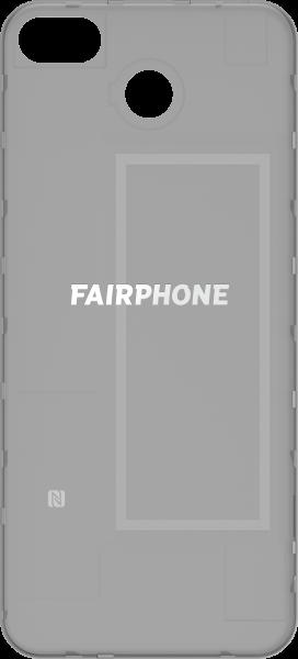 Fairphone 3 Rückabdeckung schwarz-transparent