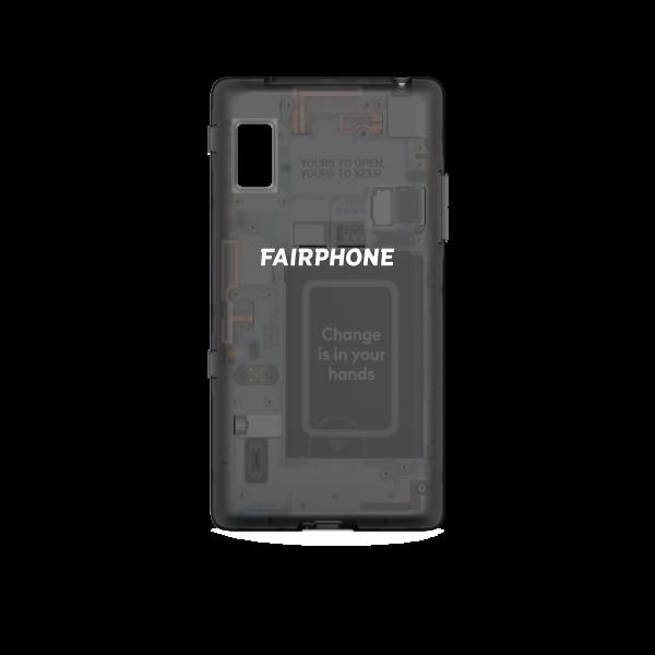 Slim Cover für Fairphone 2 - Schwarz durchsichtig