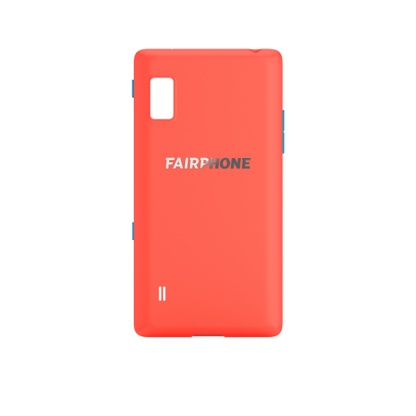 Slim Cover für Fairphone 2 - Korallenrot