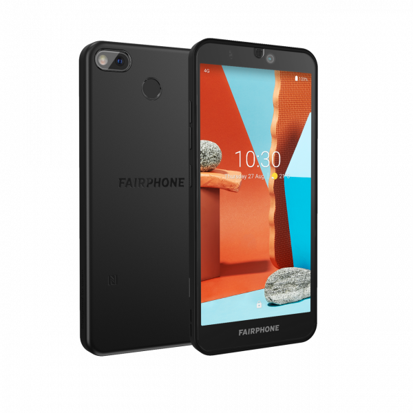 Fairphone 3+ (Schwarz, Dual SIM, 5.65'', 64GB)